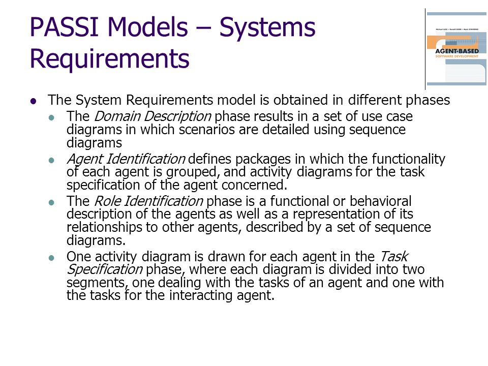 PASSI Models – Systems Requirements