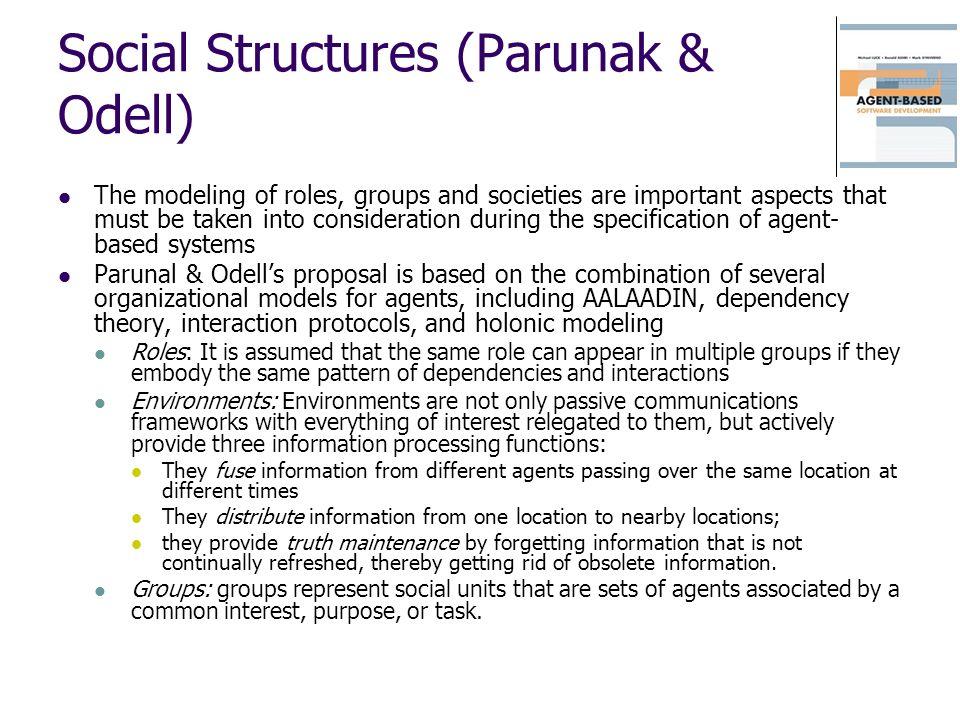 Social Structures (Parunak & Odell)