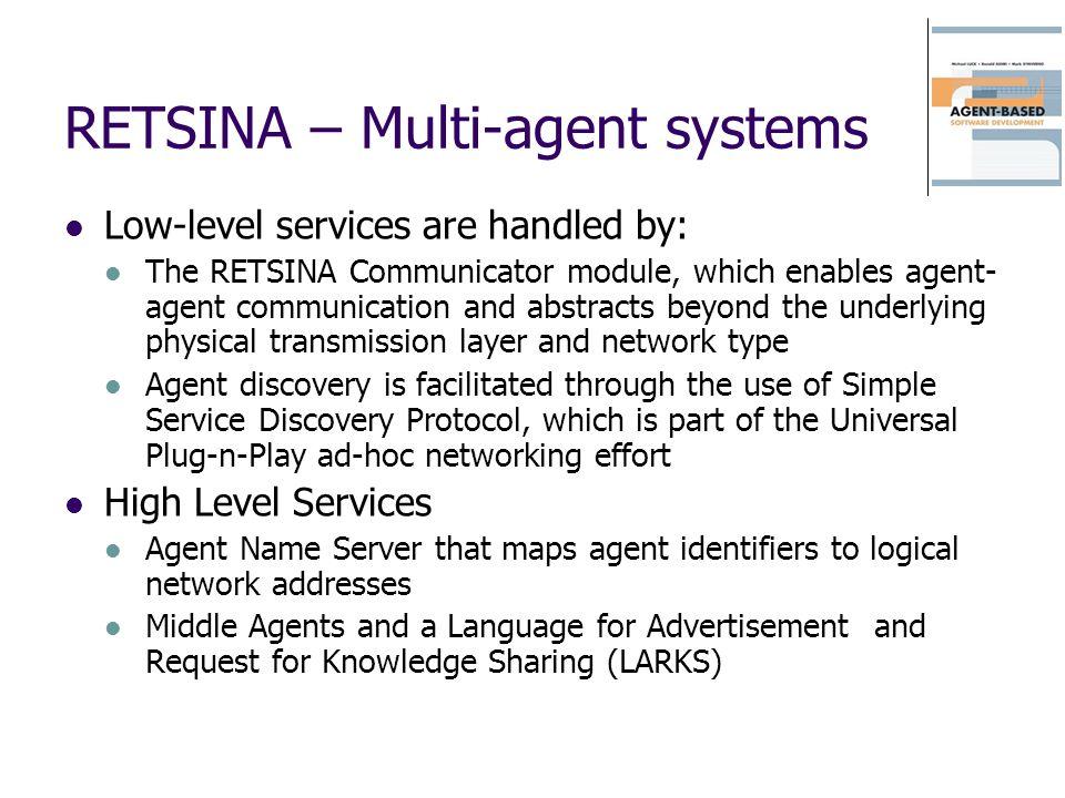 RETSINA – Multi-agent systems