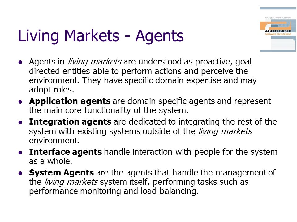 Living Markets - Agents