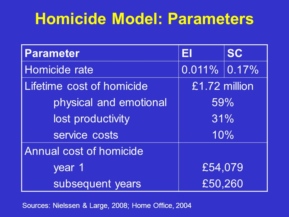 Homicide Model: Parameters