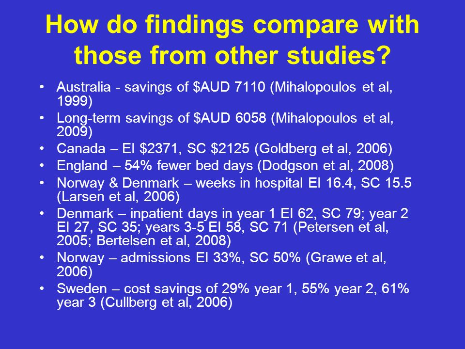 How do findings compare with those from other studies
