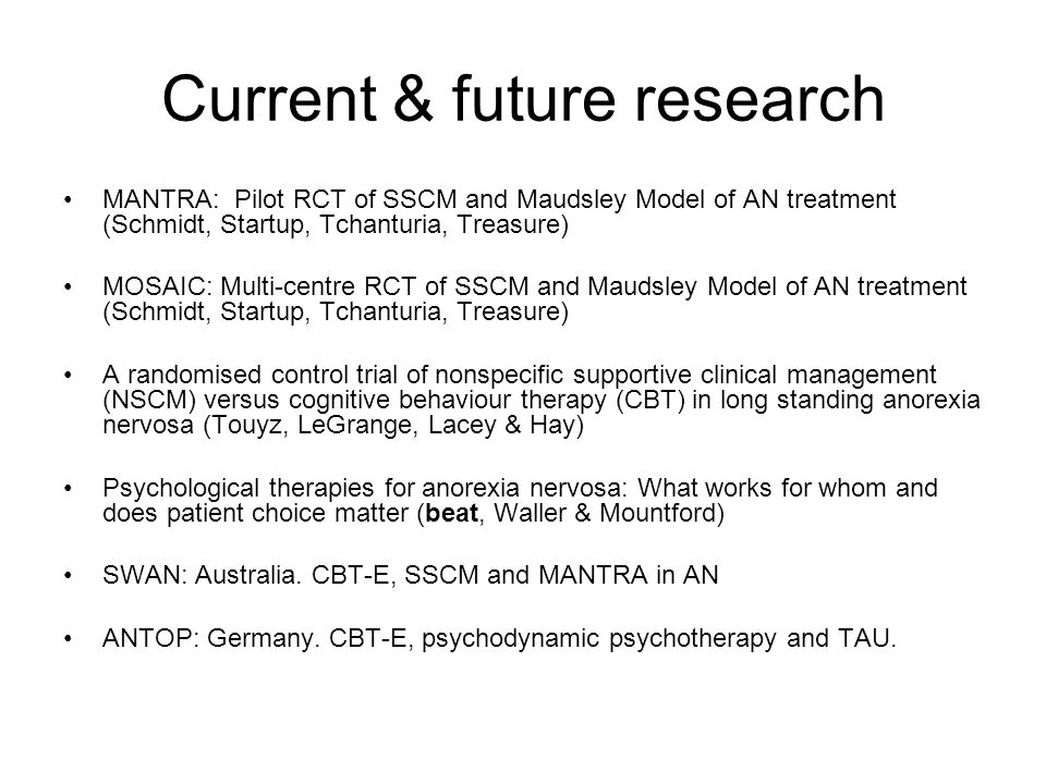 Current & future research