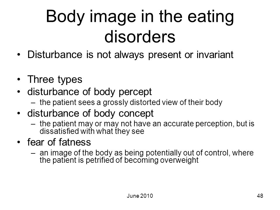 Body image in the eating disorders