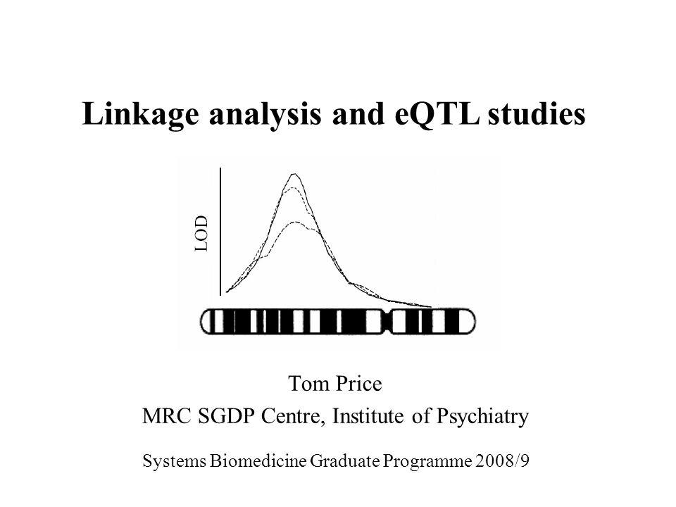 Tom Price MRC SGDP Centre, Institute of Psychiatry