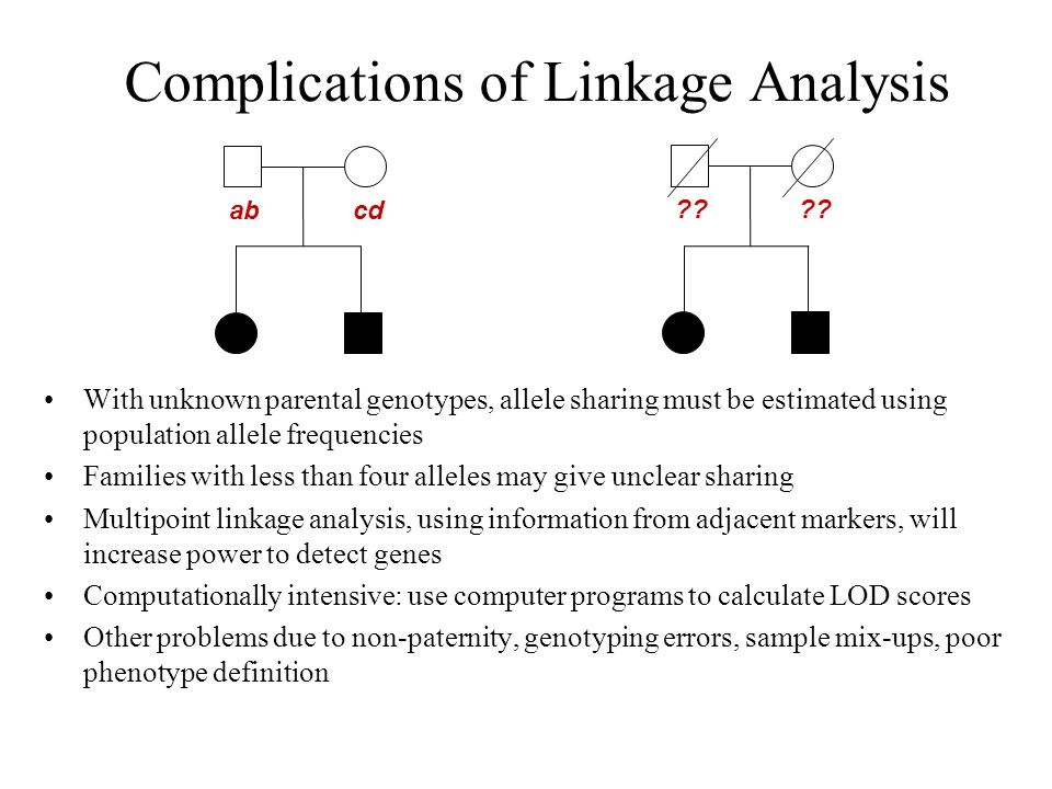 Complications of Linkage Analysis