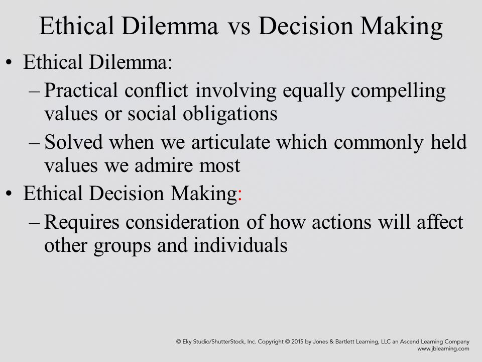 values and ethical decision making scenario Learn how six key ethical values can help you build character in yourself and others.