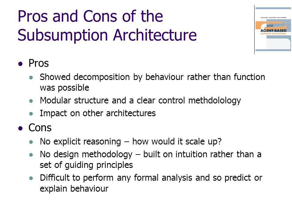 Pros and Cons of the Subsumption Architecture