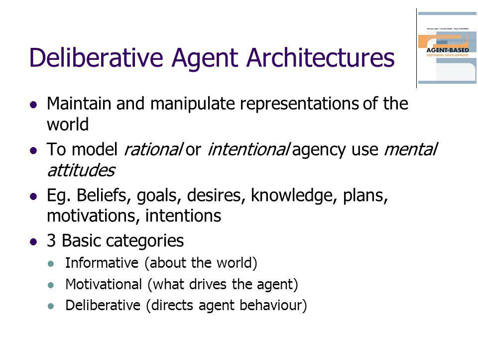 Deliberative Agent Architectures