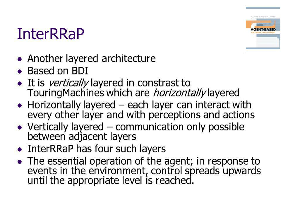 InterRRaP Another layered architecture Based on BDI