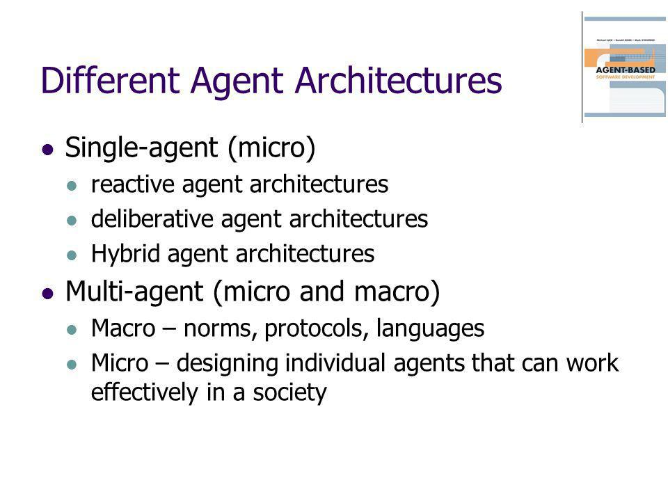 Different Agent Architectures