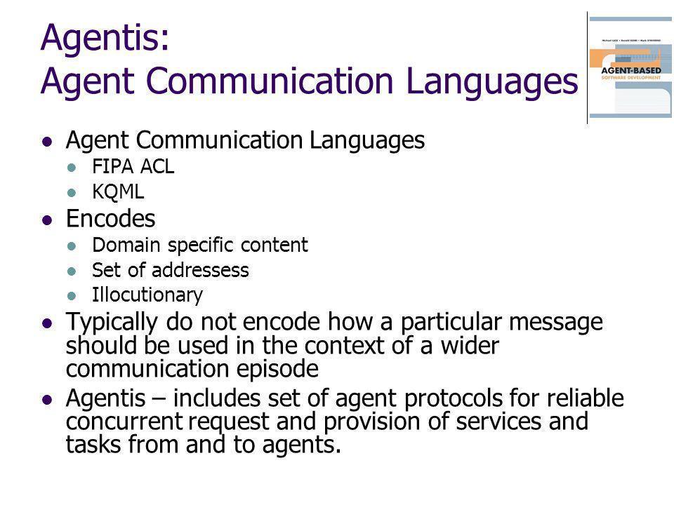 Agentis: Agent Communication Languages