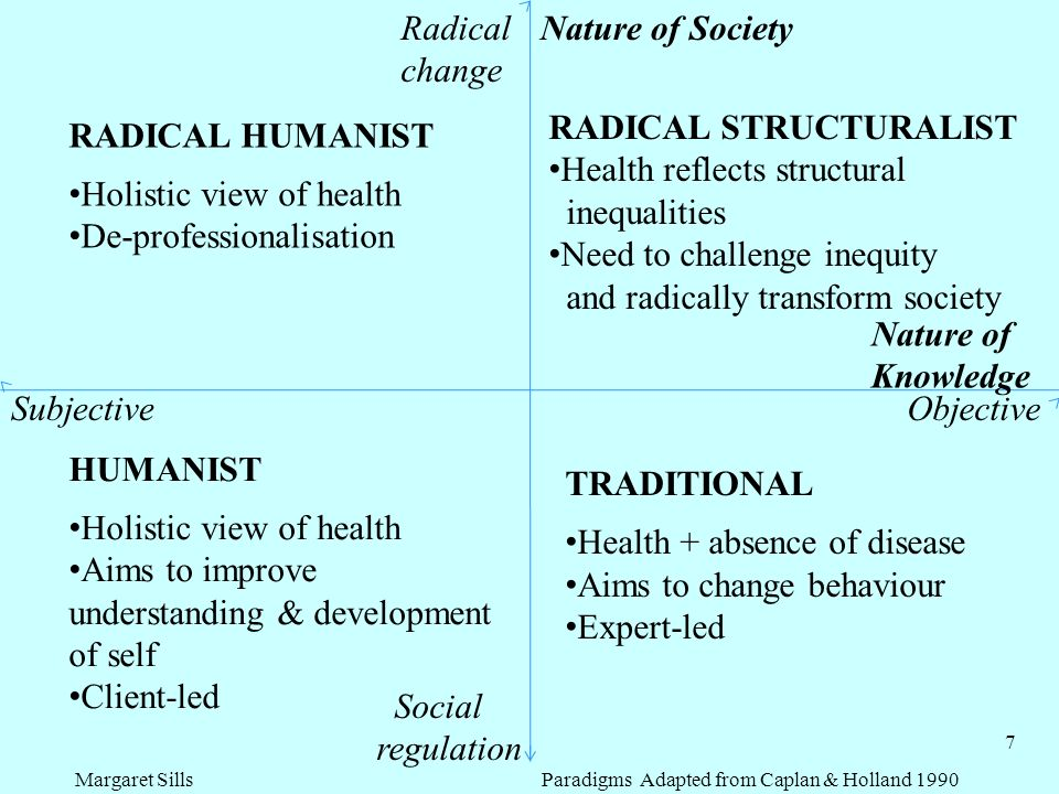 Margaret Sills Paradigms Adapted from Caplan & Holland 1990
