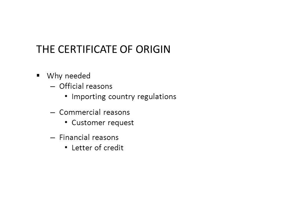 letter of origin