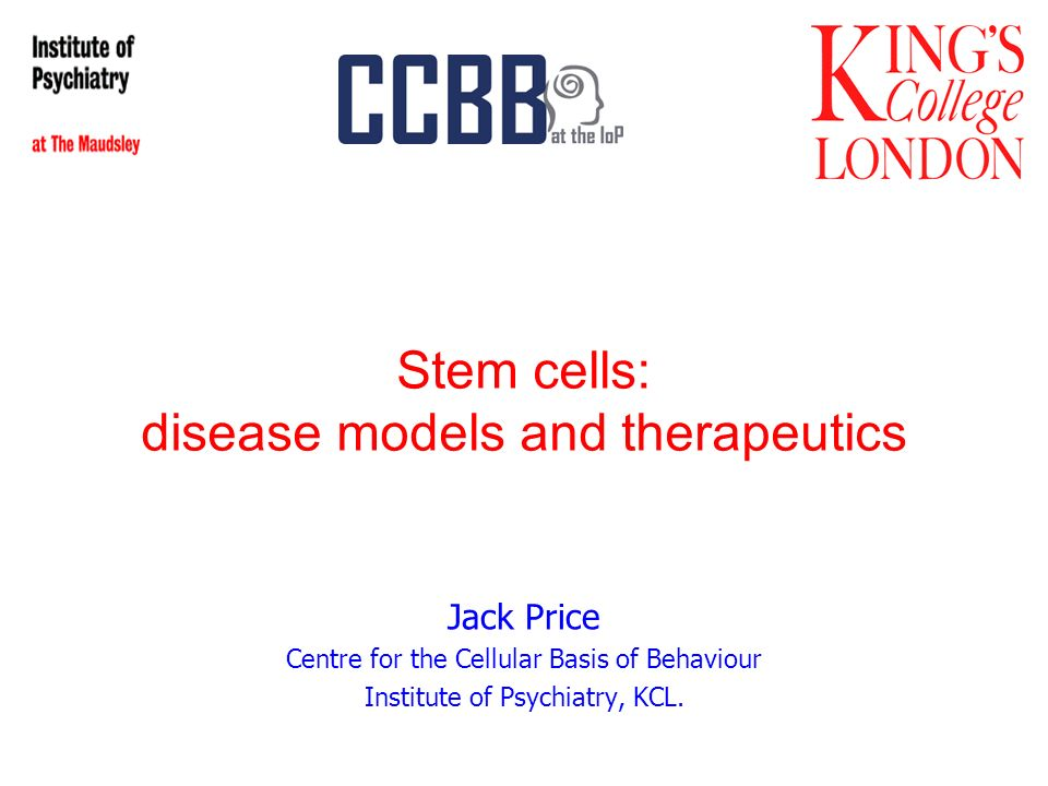 Stem cells: disease models and therapeutics