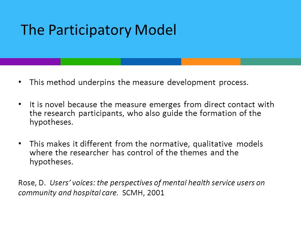 The Participatory Model