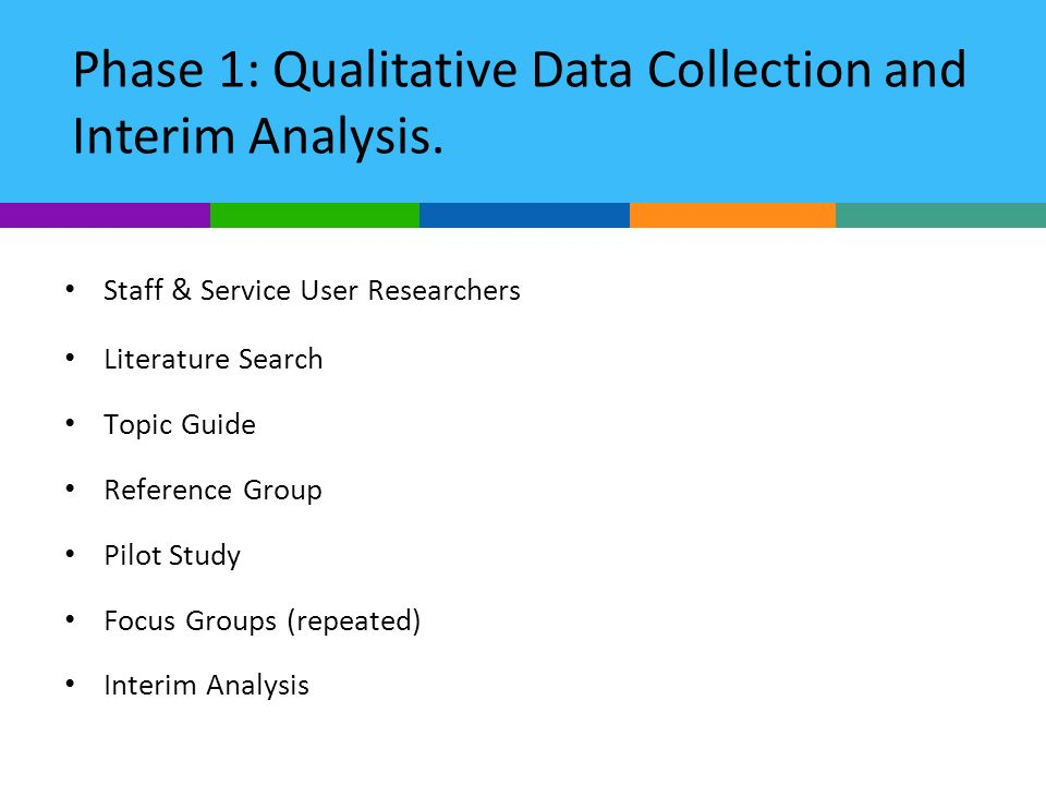 Phase 1: Qualitative Data Collection and Interim Analysis.