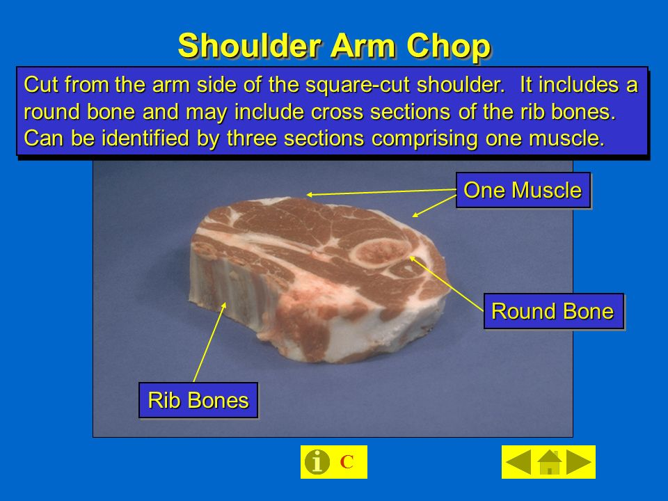 Lamb retail cut session ppt download shoulder arm chop round bone rib bones cut from the arm side of the publicscrutiny Image collections