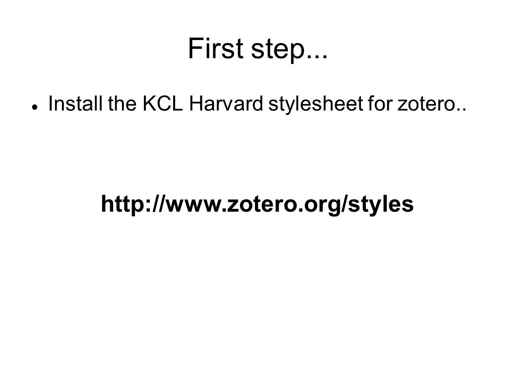 First step... http://www.zotero.org/styles