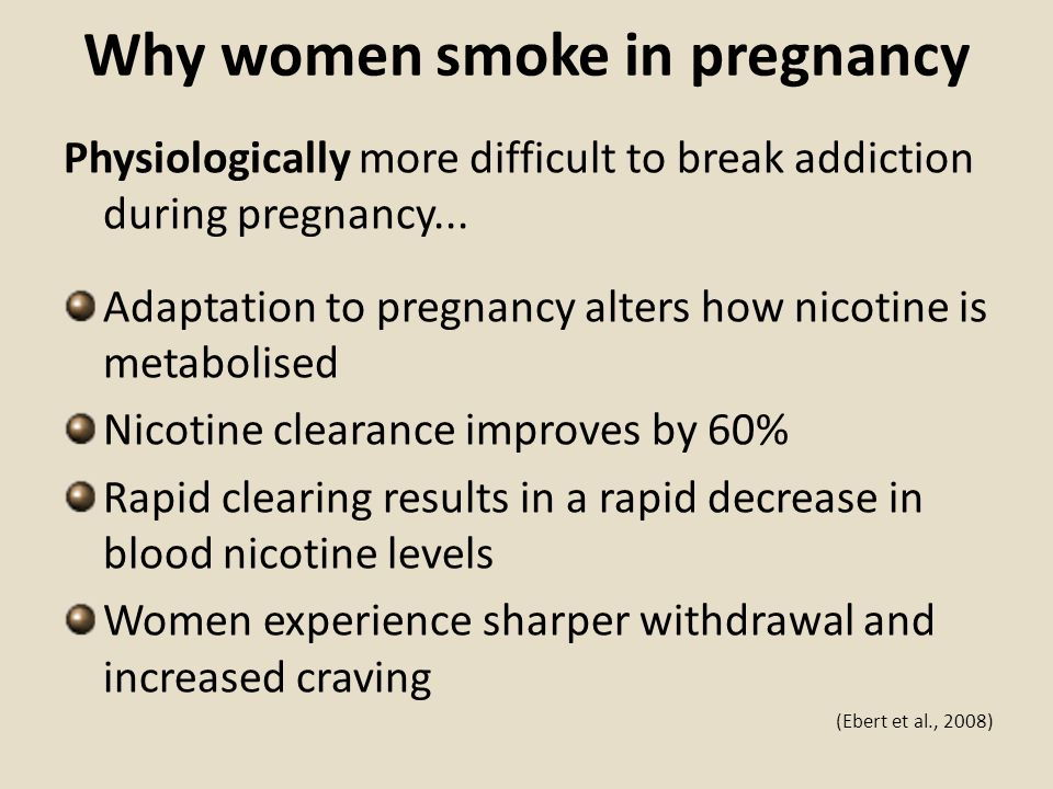 Why women smoke in pregnancy