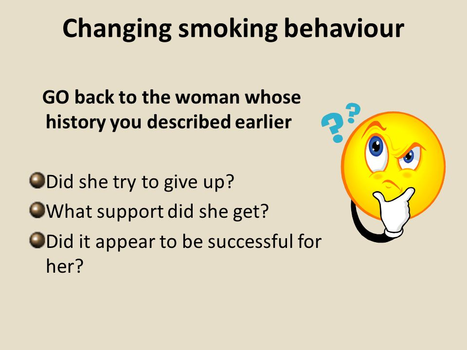 Changing smoking behaviour