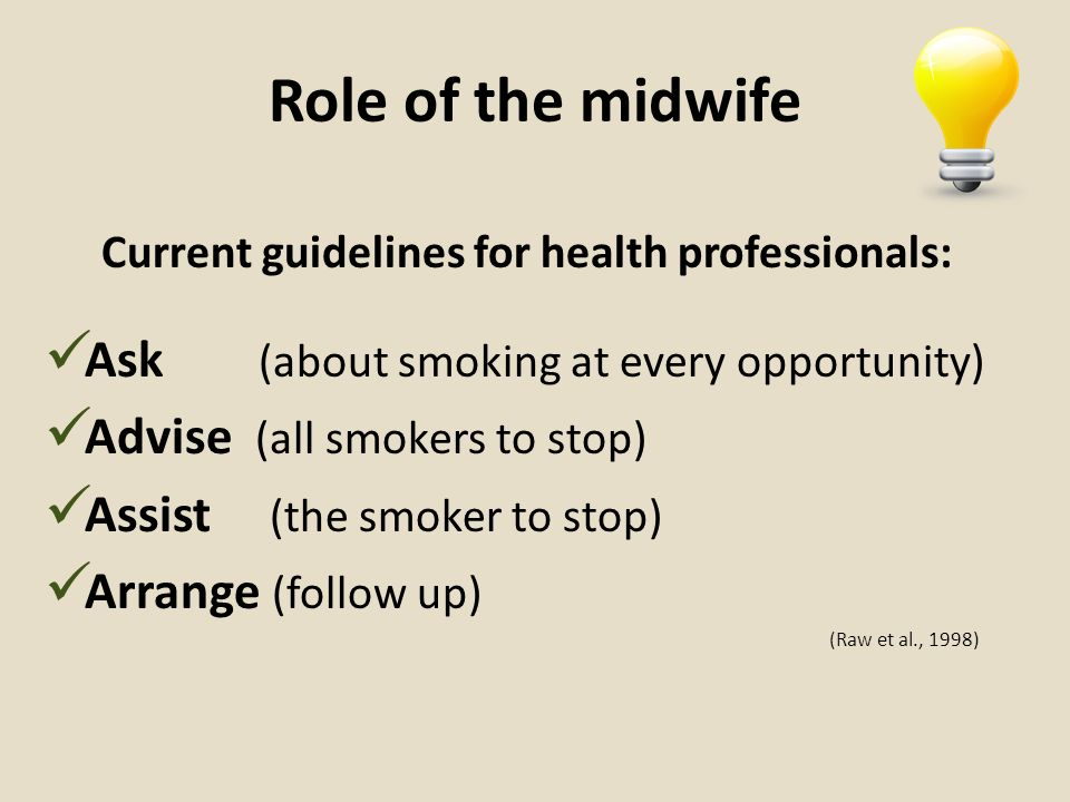 Current guidelines for health professionals: