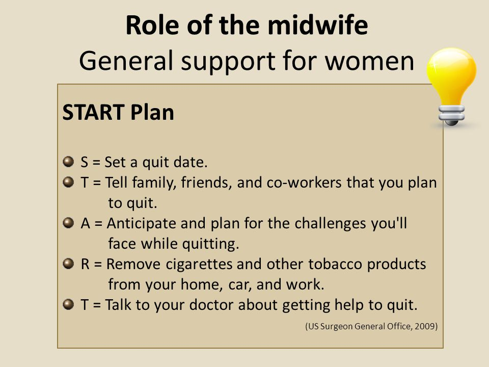 Role of the midwife General support for women
