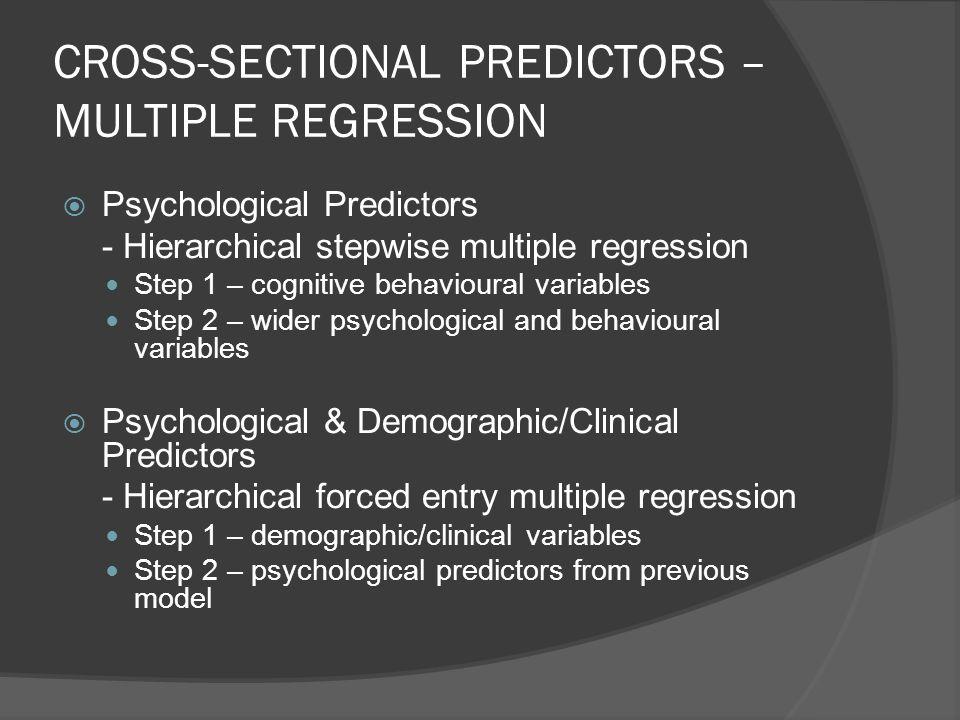 CROSS-SECTIONAL PREDICTORS – MULTIPLE REGRESSION