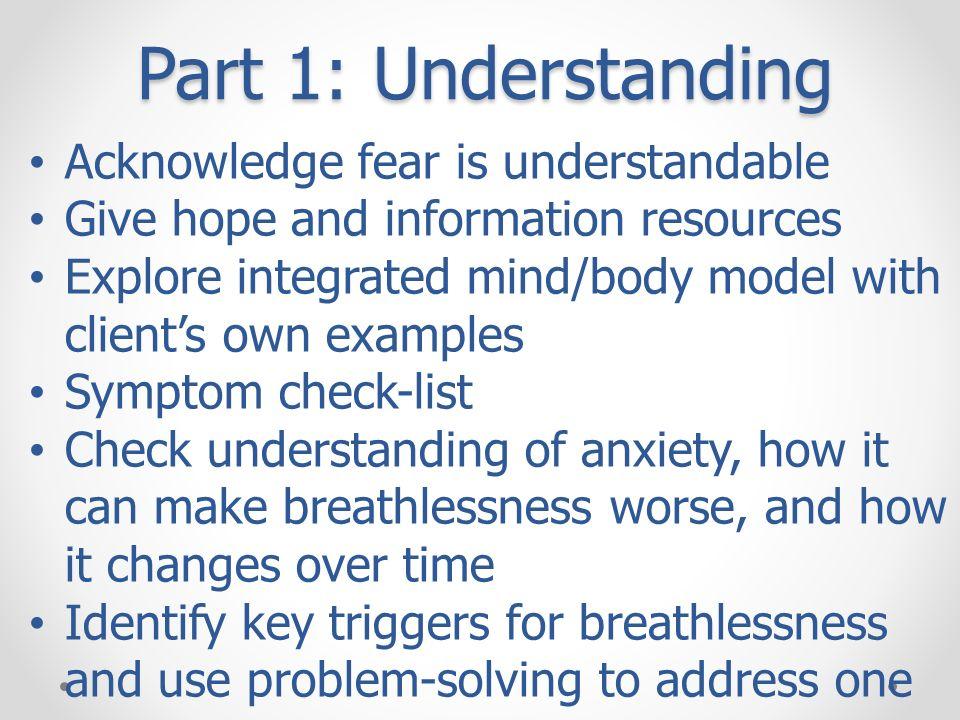 Part 1: Understanding Acknowledge fear is understandable