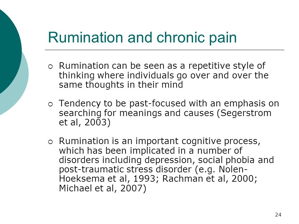 Rumination and chronic pain