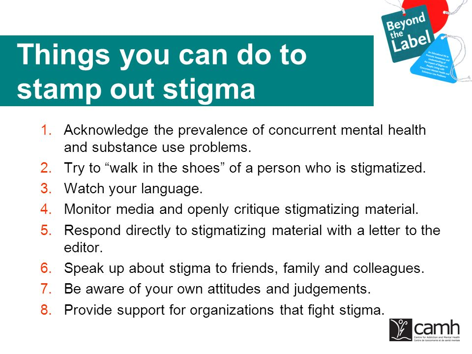 Things you can do to stamp out stigma