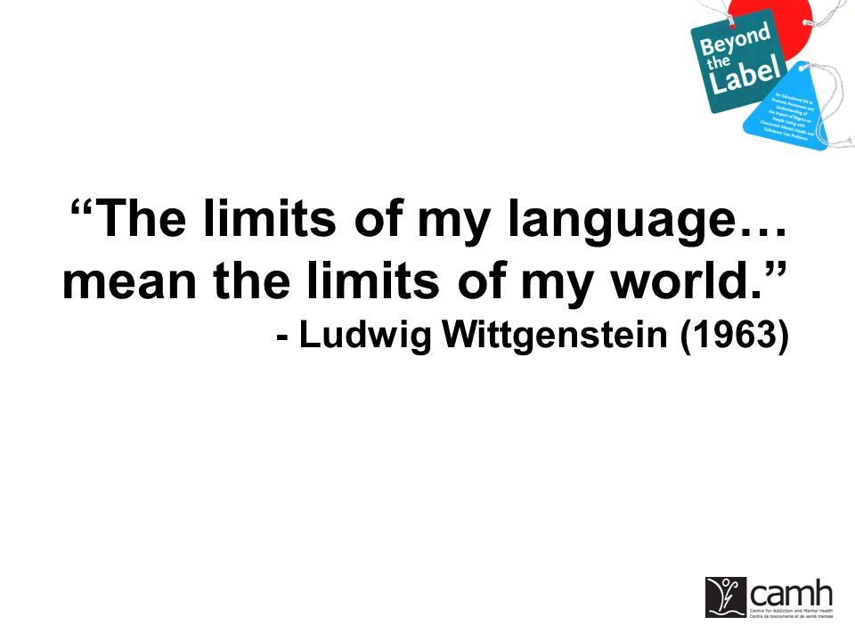 The limits of my language… mean the limits of my world