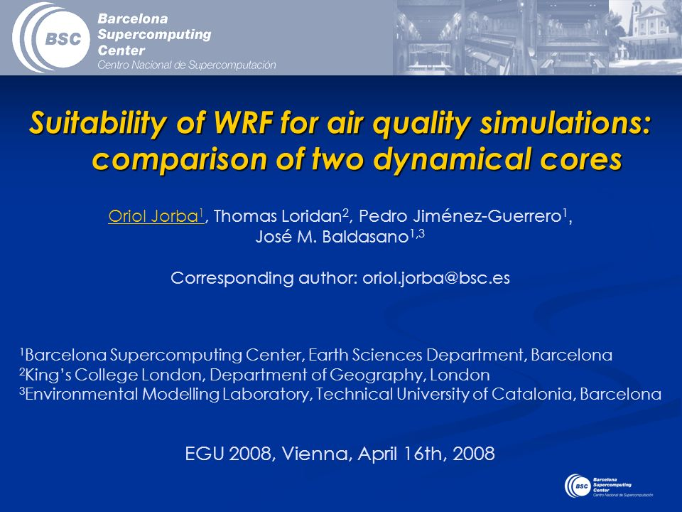 Suitability of WRF for air quality simulations: comparison of two dynamical cores