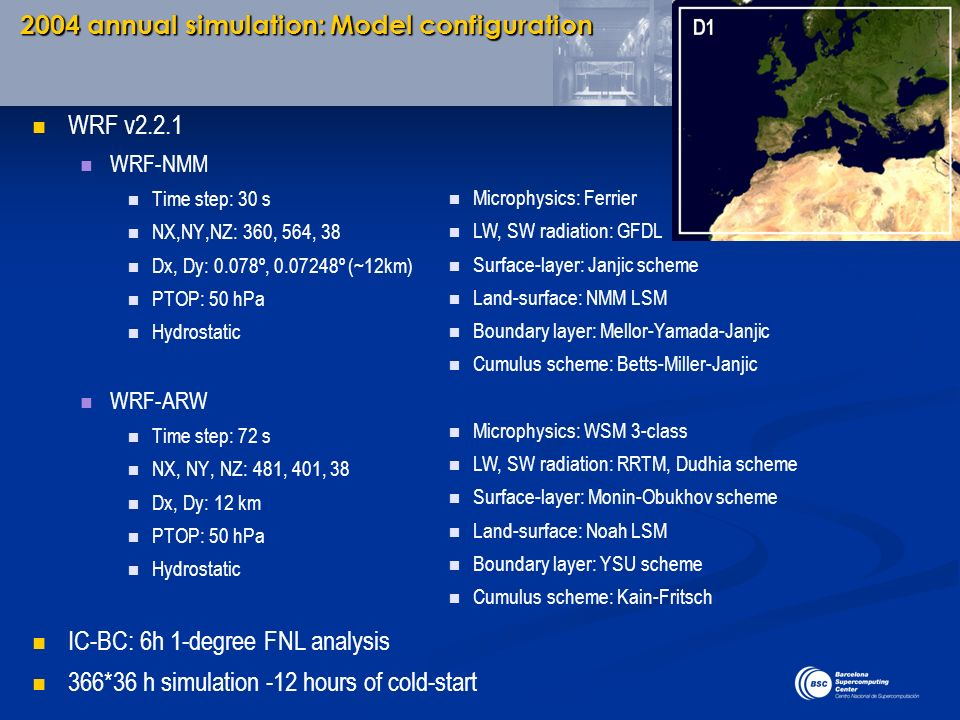 2004 annual simulation: Model configuration