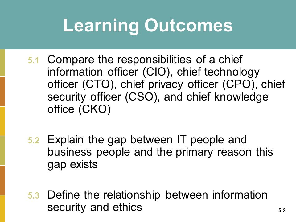 Organizational structures that support strategic - Chief information technology officer ...