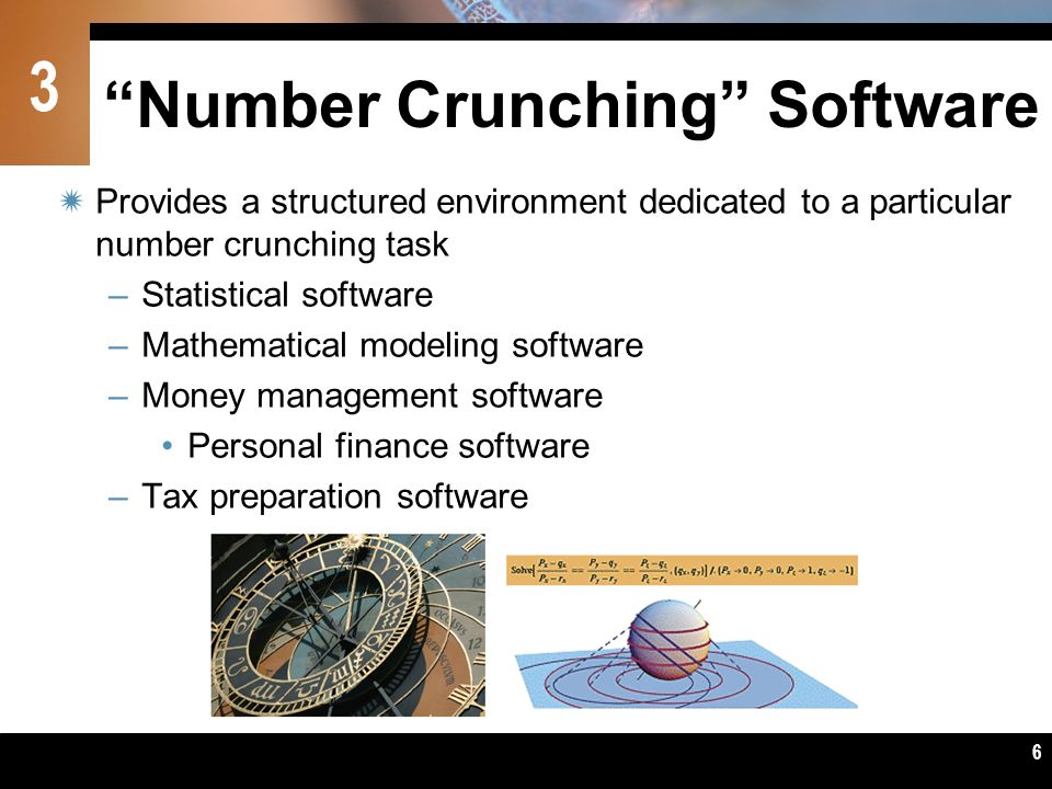 Number Crunching Software