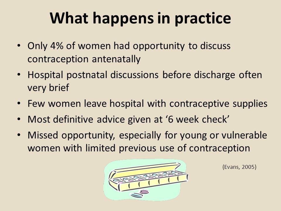 What happens in practice