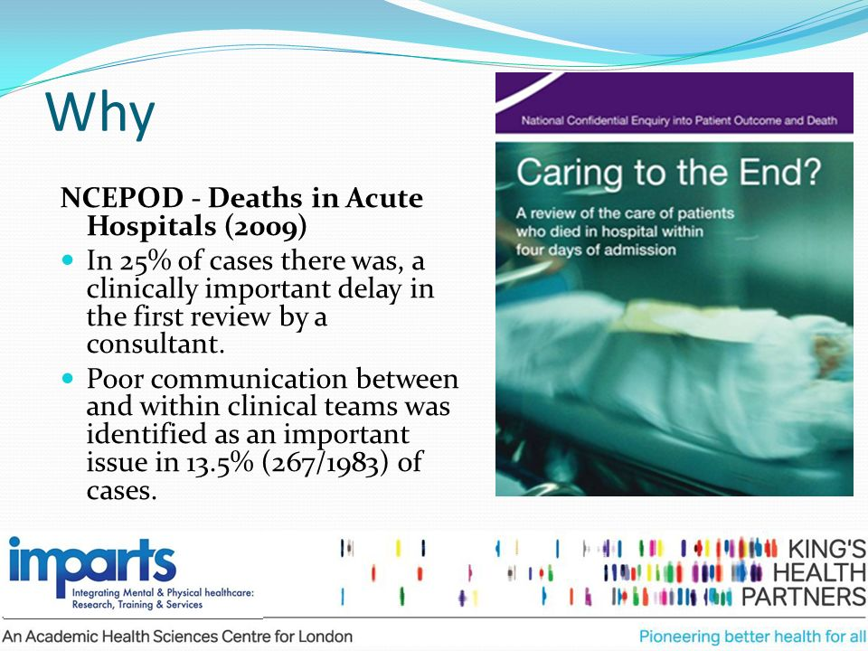 Why NCEPOD - Deaths in Acute Hospitals (2009)