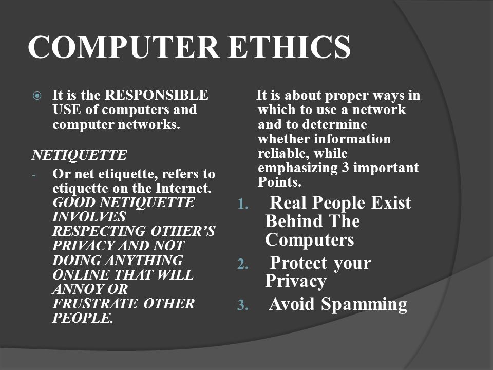 role of computer in the conduct This article highlights the points that throw some light on the importance of  computer ethics and how they contribute into a better and safe usage of  computers in.