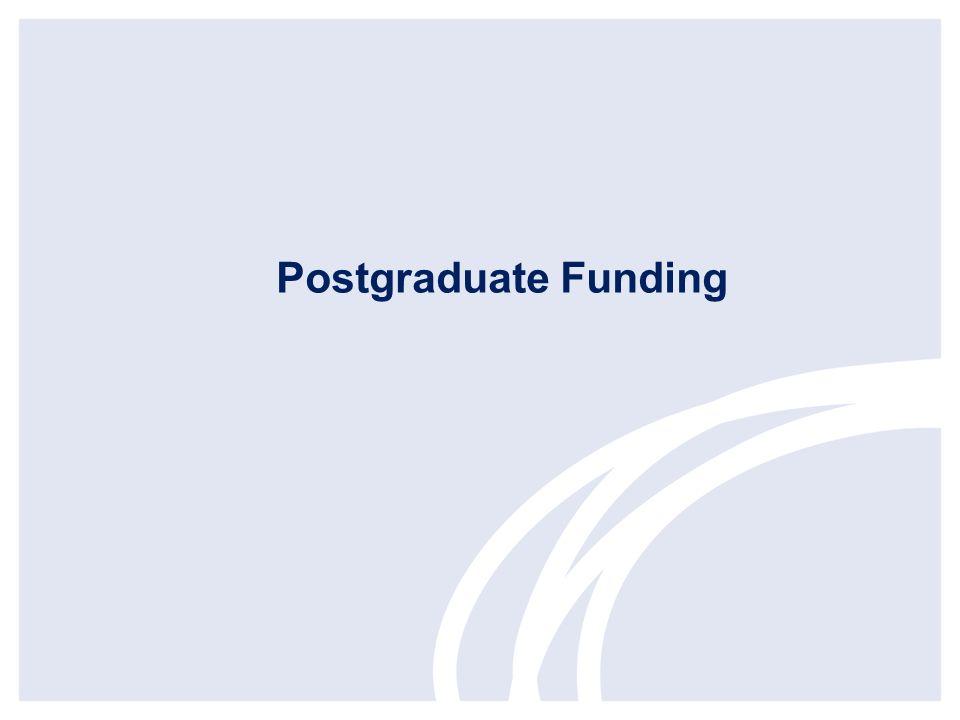 Postgraduate Funding