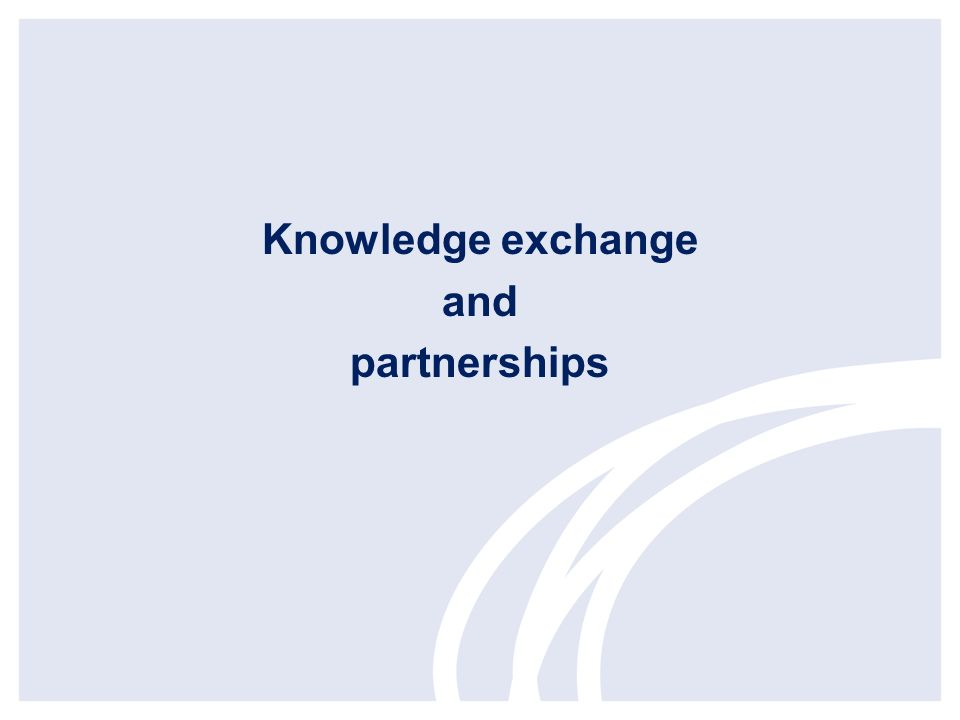 Knowledge exchange and partnerships