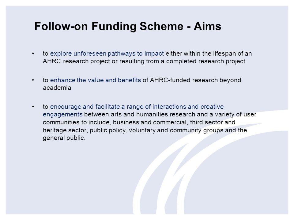 Follow-on Funding Scheme - Aims