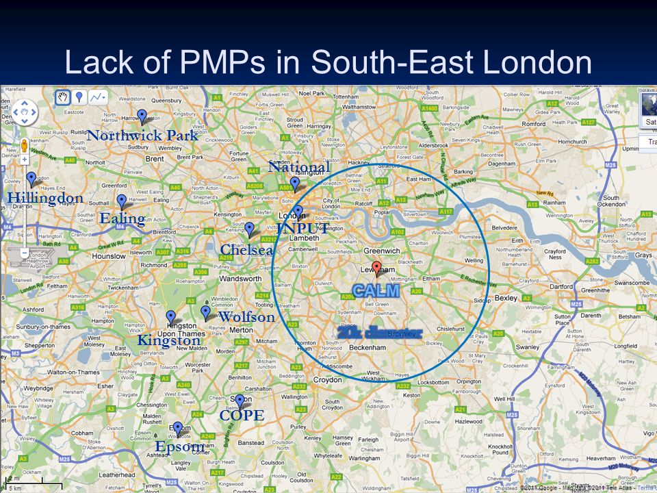 Lack of PMPs in South-East London