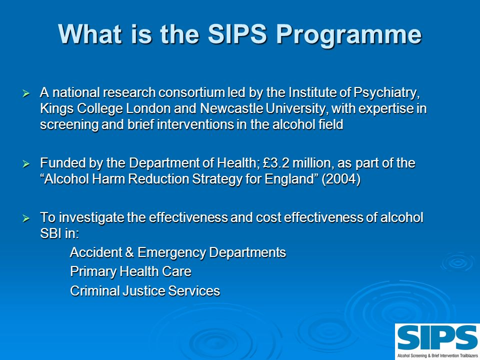 What is the SIPS Programme