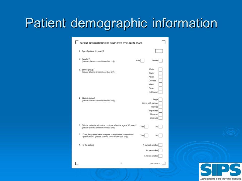 Patient demographic information