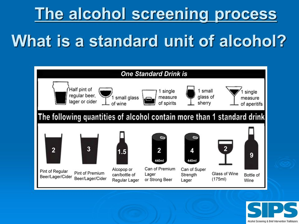 What is a standard unit of alcohol