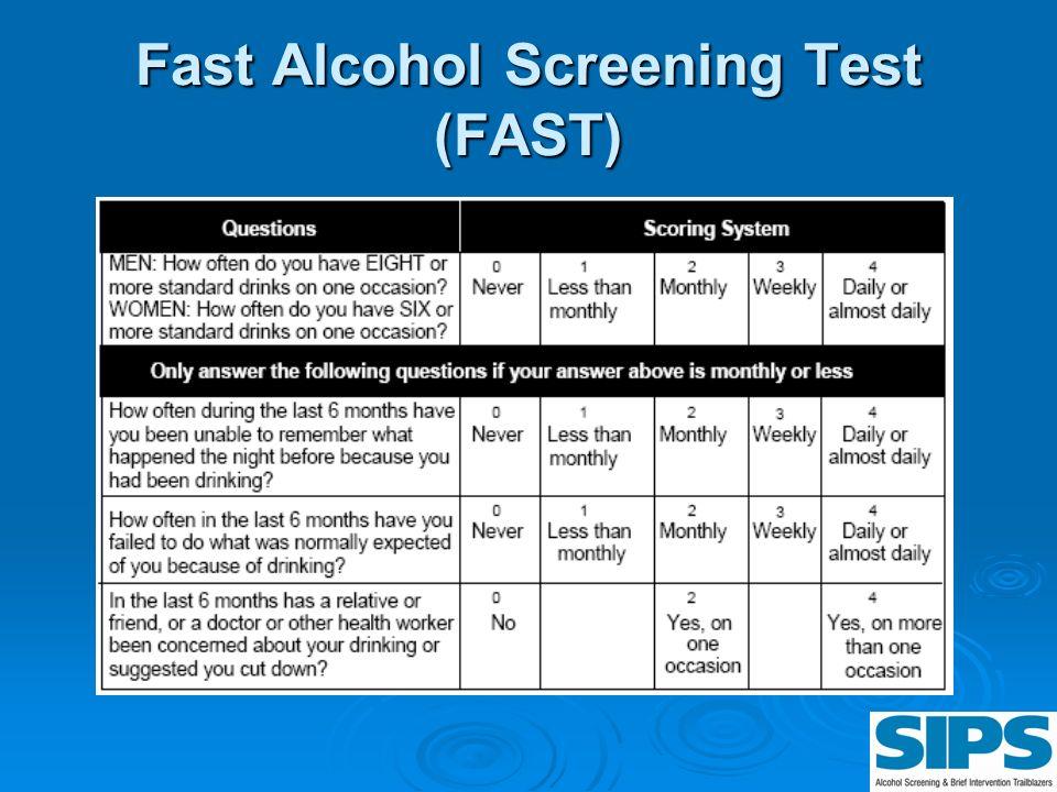 Fast Alcohol Screening Test (FAST)
