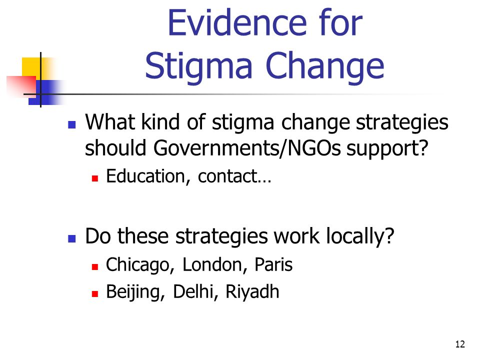 Evidence for Stigma Change
