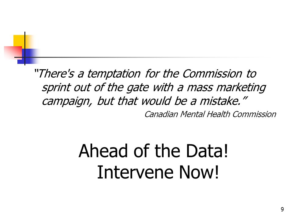 Ahead of the Data! Intervene Now!