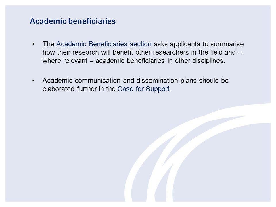 Academic beneficiaries